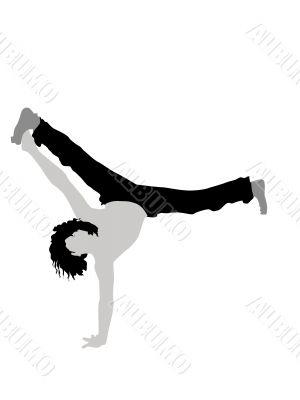 man exercising gymnastics
