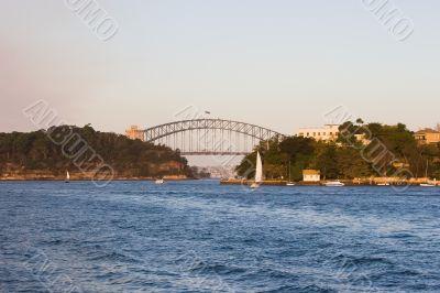 Sydney Harbour Bridge Near Sunset