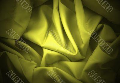 yellow folded satin