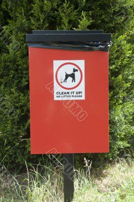 Dog wast bin