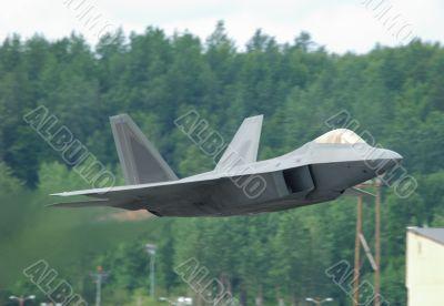 F-22 Raptor taking off