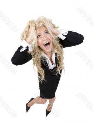 shouting pretty woman
