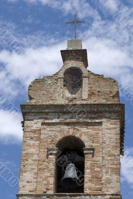 Monterubbiano - Belfry of a medieval church