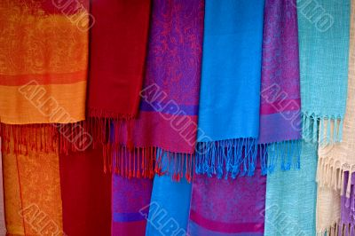 colored scarves from Asia