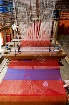 Loom, textiles by hand