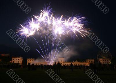 Firework at Orangerie castle in Kassel, Germany