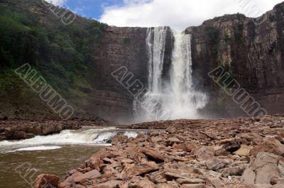 Waterfall Aponwao in Gran Sabana, Venezuela