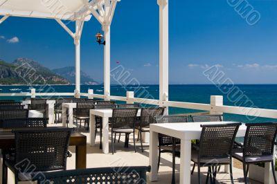 Restaurant at seacoast