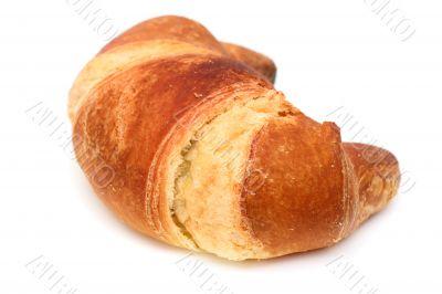 Italian brioche or french croissant