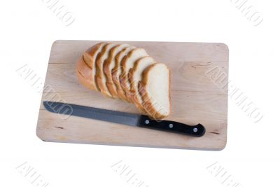 Long loaf on a chopping board