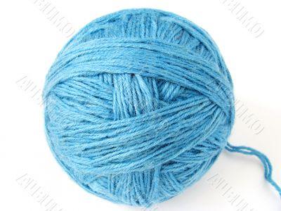 blue wool skein