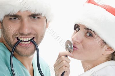 medical professionals with stethoscope
