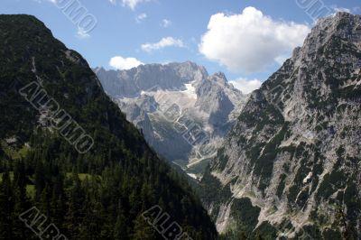 German Alps - Zugspitze and Höllental glacier