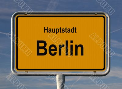 General city entry sign of Berlin