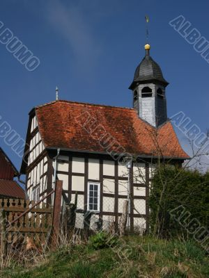 Timbered village church near Edersee
