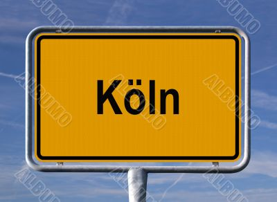 General city entry sign of Köln