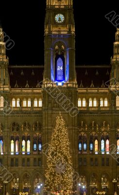 Christmas fair in Vienna, place in front of city hall