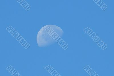 The moon in the afternoon