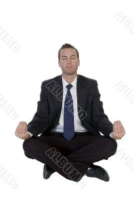 businessman doing meditation