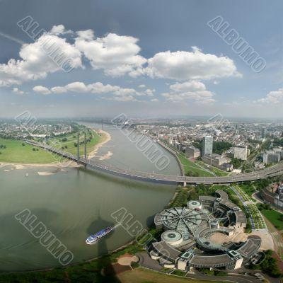 Panorama of Düsseldorf and Rhine, Germany