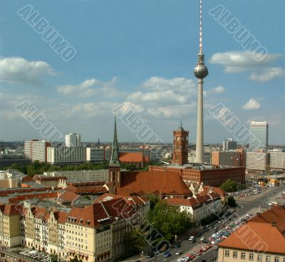 Berlin with town hall and television tower