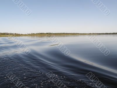 Large ripples on a lake