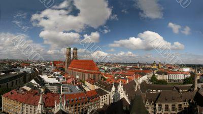 Skyline of Munich, capital of Bavaria, Germany