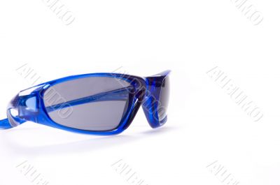 Sunglasses on white backgroung fashion black lens