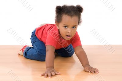 Adorable and beautiful african baby