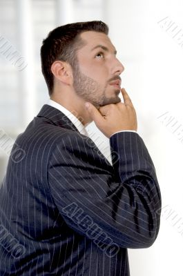 thinking young executive
