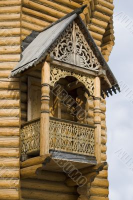 Wooden Carved Balcony