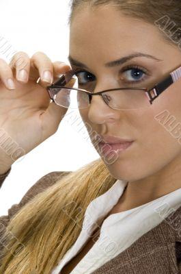 pretty woman posing with her eyewear