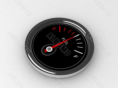 three dimensional  fuel  gauge