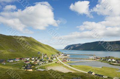 small norwegian fisher`s village