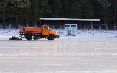 Fill in skating rink