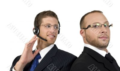 young businessman communicating