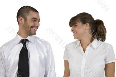 laughing executives