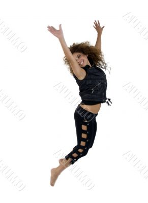 lady jumping for joy