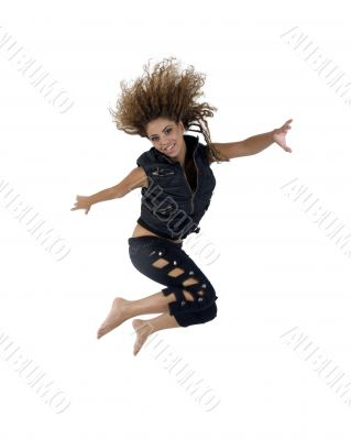spin jumping lady