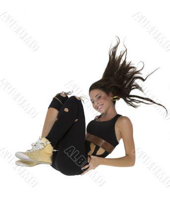 exercising glamorous female