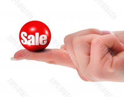 sale concept, shallow DOF