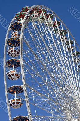Ferris wheel at the fairground