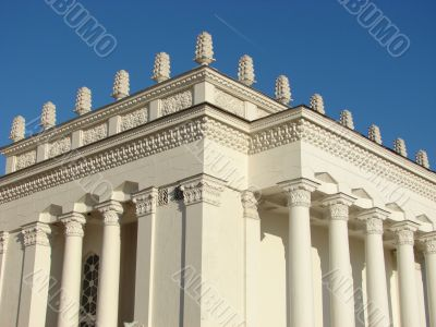 Big a white building with columns,