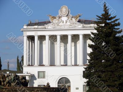 Big a white building with columns
