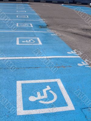 Parking lots  for disabled persons