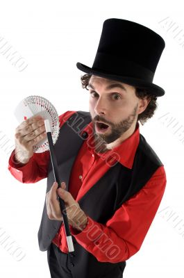 surprised magician