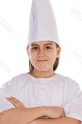 Adorable cook girl