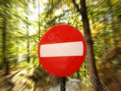 no enter danger stop very close