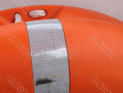 orange buoy close up