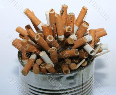 cigarette butt garbage pile
